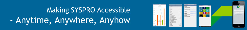 SYSPRO Espresso - making SYSPRO accessible anytime, anywhere, anyhow.
